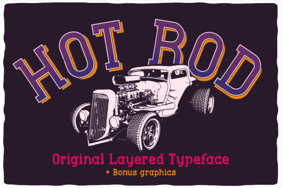 Print on Demand: Hot Rod Display Font By Vozzy Vintage Fonts And Graphics