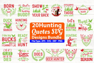 Print on Demand: Hunting SVG Design Bundle Graphic Print Templates By Design Store