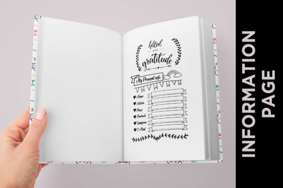 KDP EDITABLE MINDFULNESS DAILY JOURNAL Graphic Item