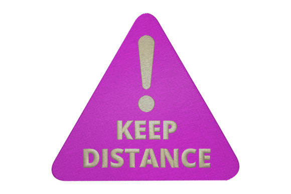 Keep Distance Family & Friends Embroidery Design By Digital Creations Art Studio