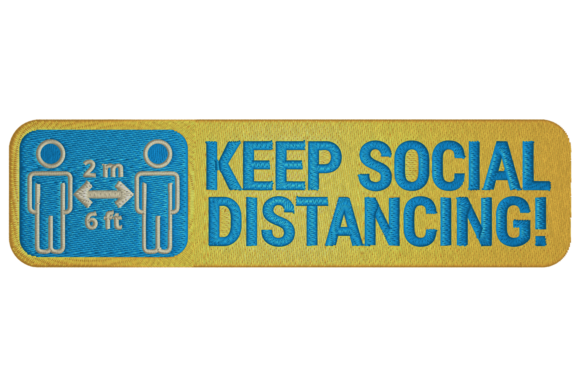 Keep Social Distance Family & Friends Embroidery Design By Digital Creations Art Studio