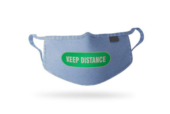 Keep Distance Embroidery Item