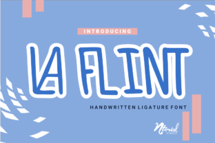 Print on Demand: La Flint Script & Handwritten Font By Ntorial Studio