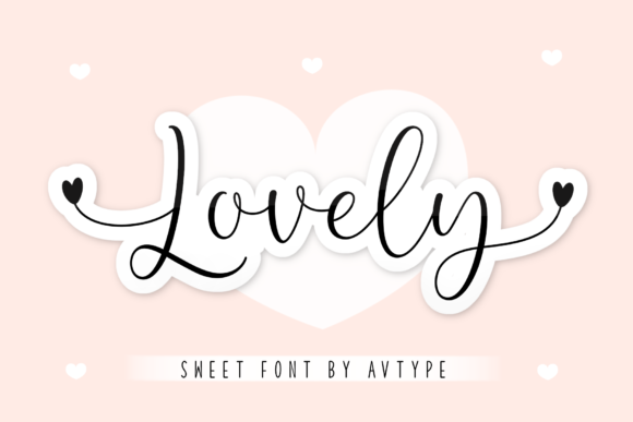 Print on Demand: Lovely Script & Handwritten Font By AV Type