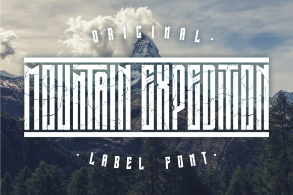 Print on Demand: Mountain Expedition Display Font By Vozzy Vintage Fonts And Graphics