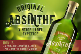 Print on Demand: Original Absinthe Display Font By Vozzy Vintage Fonts And Graphics