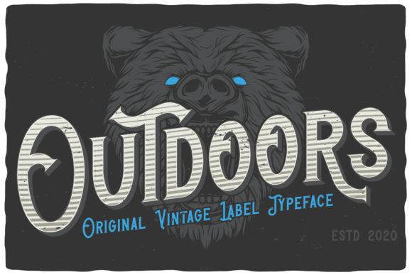 Print on Demand: Outdoors Display Font By Vozzy Vintage Fonts And Graphics