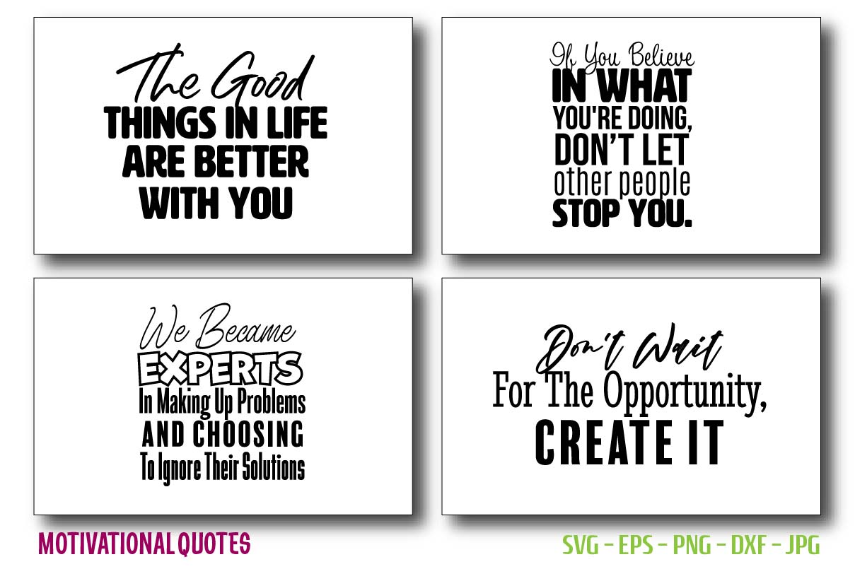 Quotes of Motivational & Inspirational. SVG File
