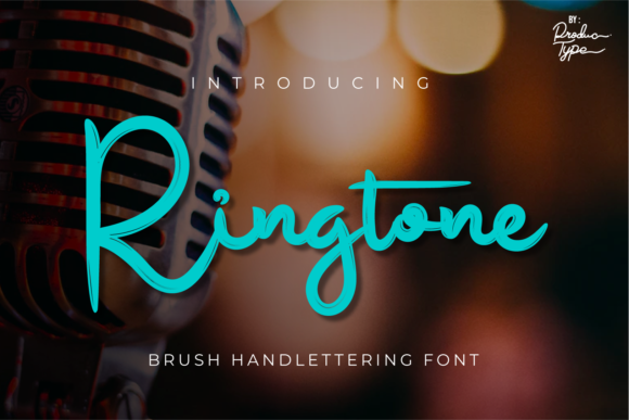 Print on Demand: Ringtone Script & Handwritten Font By Productype