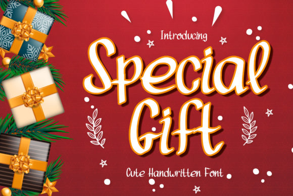 Print on Demand: Special Gift Script & Handwritten Font By boogaletter