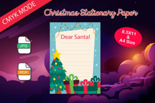 Print on Demand: Stationary Paper Christmas for Printable Graphic Print Templates By IsaraDesign