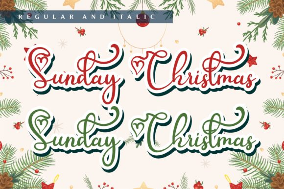 Sunday Christmas Font Font