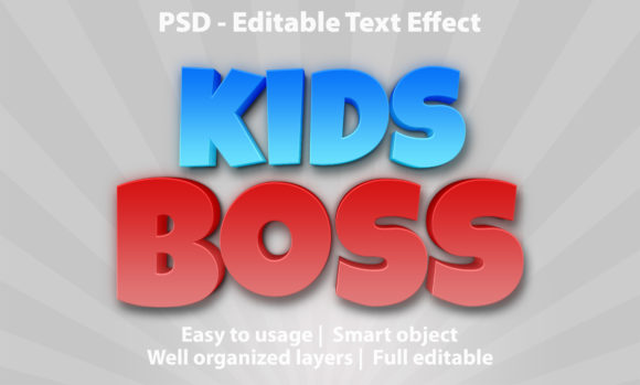 Text Effect Kids Boss Premium Graphic Graphic Templates By yosiduck