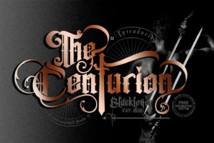 Print on Demand: The Centurion Blackletter Font By creativework69