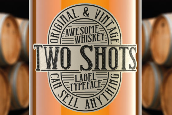 Print on Demand: Two Shots Display Font By Vozzy Vintage Fonts And Graphics