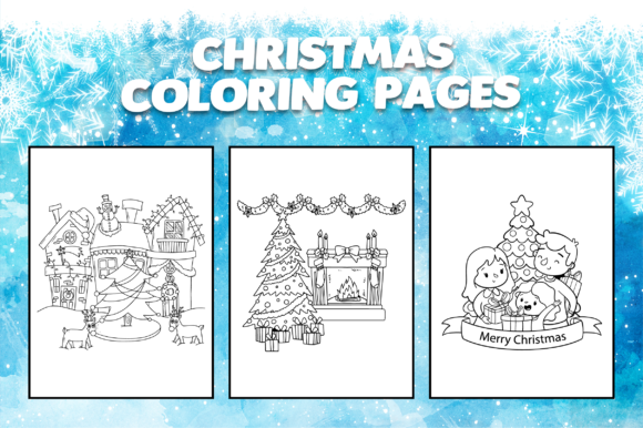 - Cute Christmas Coloring Book For Kids (Graphic) By MK DESIGN · Creative  Fabrica