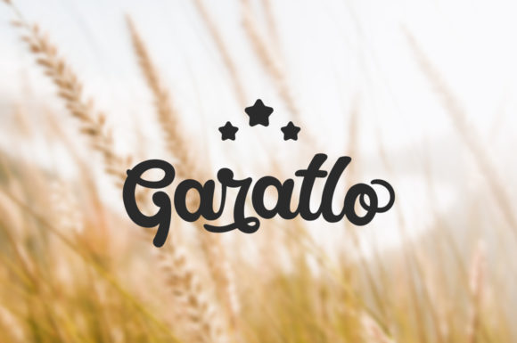 Print on Demand: Garatlo Script & Handwritten Font By Shaped Fonts