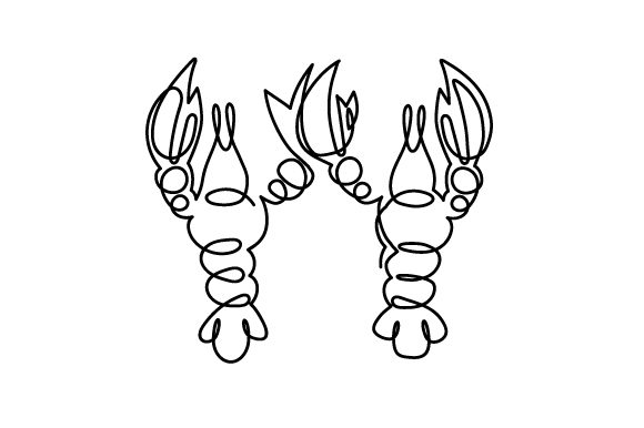 Lobsters Holding Claws Love Craft Cut File By Creative Fabrica Crafts