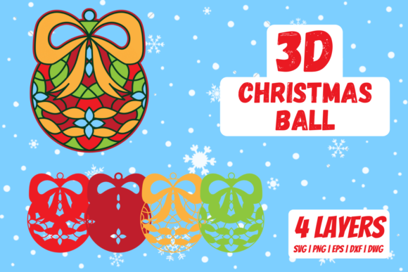 3D Christmas Ball Graphic Crafts By SvgOcean