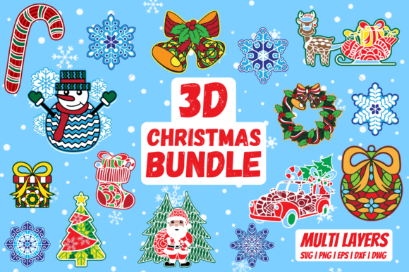 3D Christmas Bundle Graphic Crafts By SvgOcean