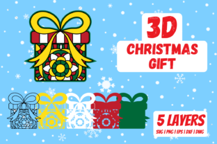 3D Christmas Gift Graphic Crafts By SvgOcean