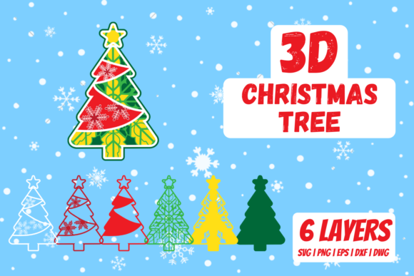 3D Christmas Tree Graphic Crafts By SvgOcean