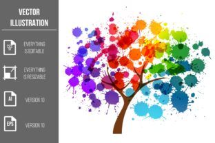 Abstract Tree Vector Clipart Graphic Illustrations By Ka Design