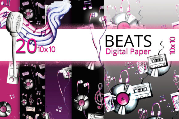 Beats Musical Digital Paper Graphic Preview