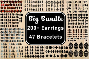 Print on Demand: Big Bundle of Earrings  By yulnniya