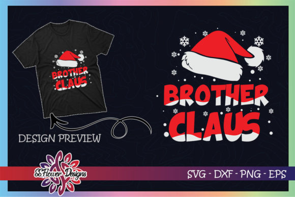 Brother Claus Christmas Family Graphic Print Templates By ssflower