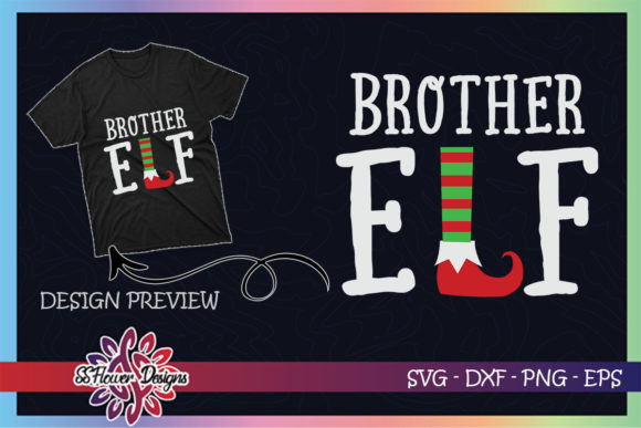 Brother ELF Christmas Graphic Print Templates By ssflower