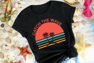 Print on Demand: Catch the Wave Vector SVG+PNG+JPG+EPS Graphic Print Templates By Ifter Nishat