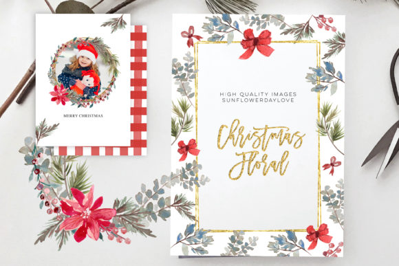 Print on Demand: Christmas Clipart, Christmas Border Graphic Illustrations By SunflowerLove