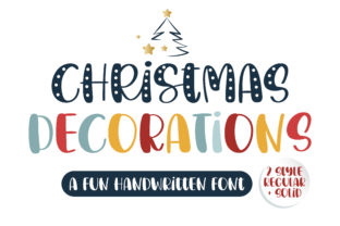 Print on Demand: Christmas Decorations Script & Handwritten Font By BitongType