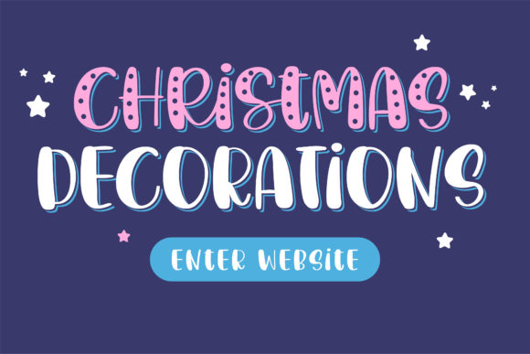 Christmas Decorations Font Preview