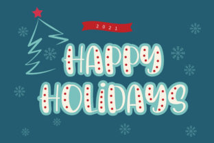 Print on Demand: Christmas Decorations Script & Handwritten Font By BitongType 7