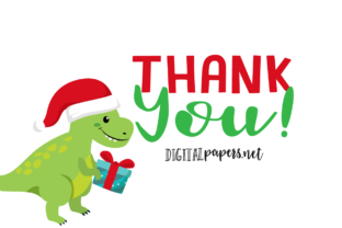 Print on Demand: Christmas Dinosaurs Graphic Illustrations By DigitalPapers 3