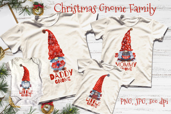 Christmas Gnome Family. Christmas Gnomes Graphic Illustrations By KsenyaArt