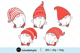 Christmas Gnomes Clipart Graphic Illustrations By CatAndMe