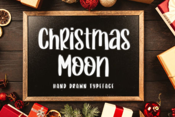 Print on Demand: Christmas Moon Script & Handwritten Font By mizanstudio