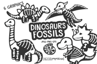 Print on Demand: Dinosaurs Fossils Gráfico Ilustraciones Por DigitalPapers