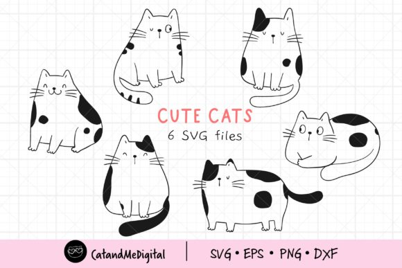 Doodle Cats Graphic Illustrations By CatAndMe