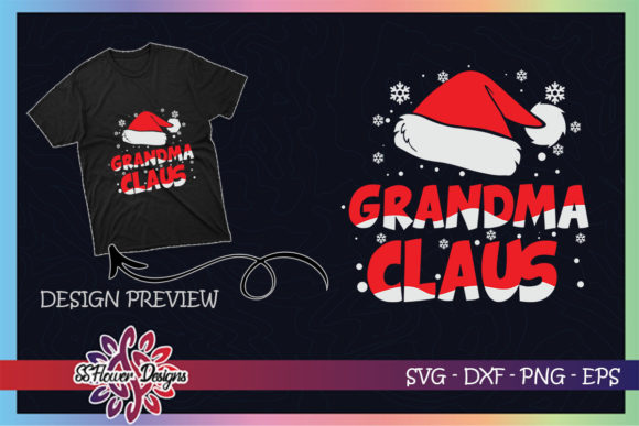 Grandma Claus Christmas Family Graphic Print Templates By ssflower