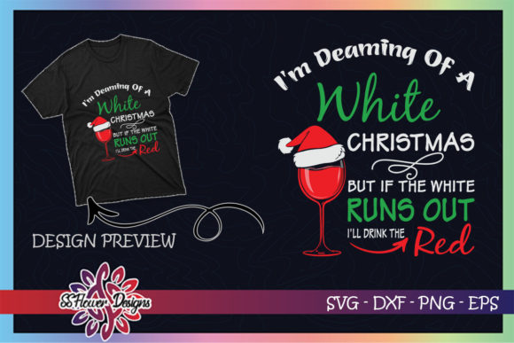 I'm Dreaming of a White Christmas Graphic Print Templates By ssflower