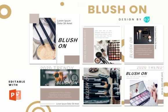 Instagram Feed - Blush on Graphic Presentation Templates By 57creative