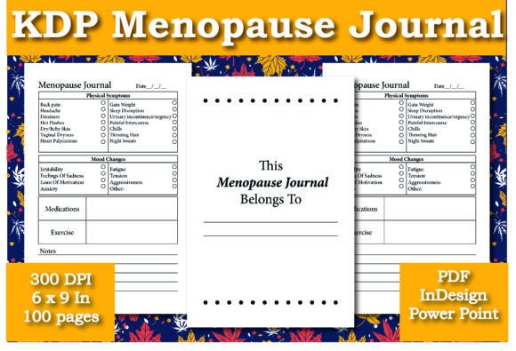 Print on Demand: KDP Menopause Journal Interior Graphic KDP Interiors By Ivana Prue
