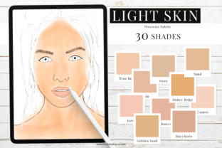 Print on Demand: Light Skin Color Palette Graphic Add-ons By Christine Fleury