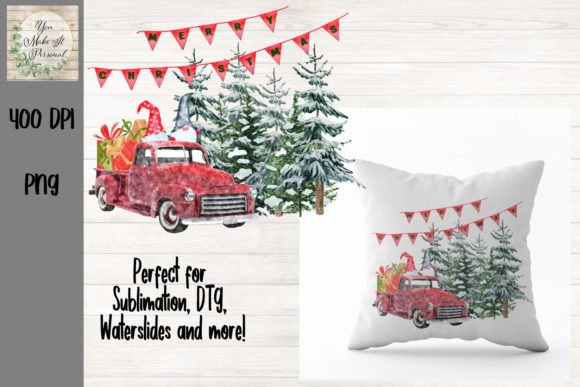 Print on Demand: Merry Christmas Gnome Scene Graphic Print Templates By You Make It Personal