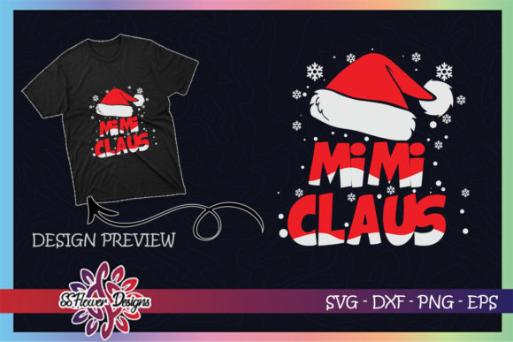 Mimi Claus Christmas Family Graphic Print Templates By ssflower
