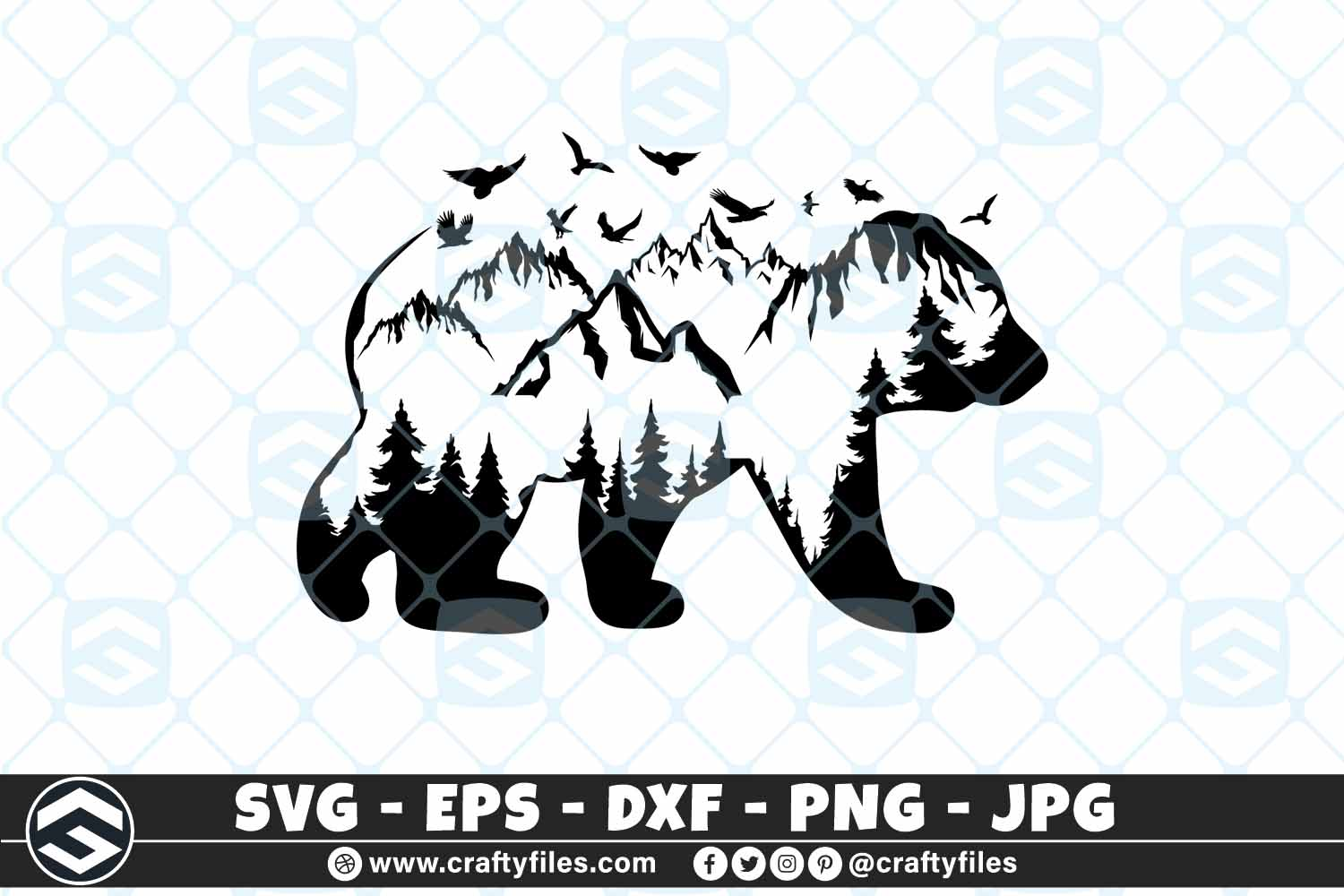 Moutains and Trees Beer Mama Beer SVG SVG File